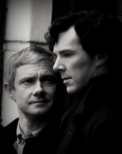 Sherlock & John. The whole show in a single photo. Great snap! http://www.pinterest.com/aggiedem/sherlock-addict/