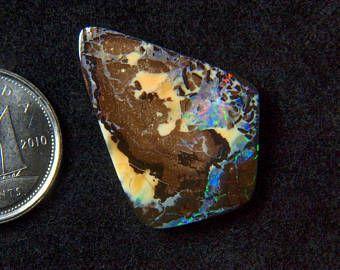 Beautiful 11.7CT Australia polished boulder opal cabochon