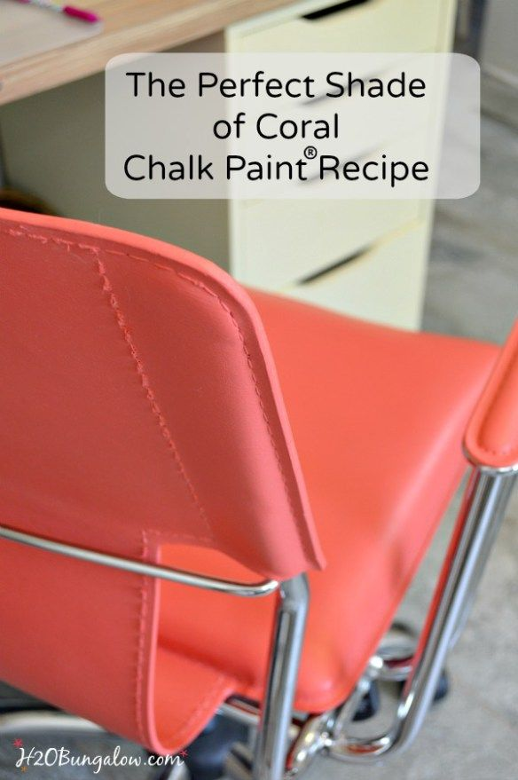 Painted Modern Leather Chair