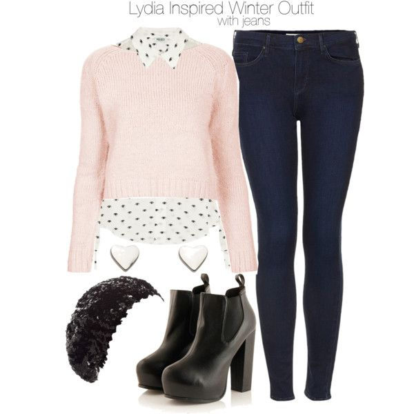 """""""Lydia Inspired Winter Outfit with Jeans"""" by veterization on Polyvore"""
