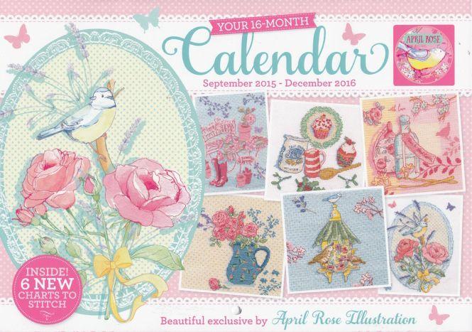April Rose Calendar : April rose calendar world of cross stitching magazine