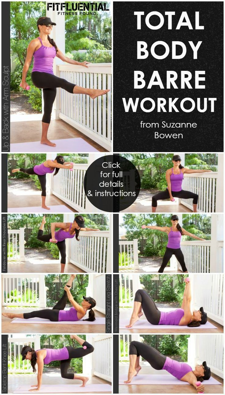 The best workout for your body ladies!!!! Total Body Barre Workout