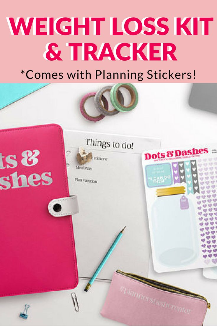 Weight Loss & Workout Planner.  This one even comes with planning stickers. Finally achieve your weight loss goals! #afflink #2018planner