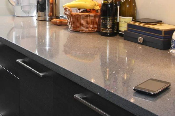 grey quartz kitchen worktop titaneo compac quartz. Black Bedroom Furniture Sets. Home Design Ideas