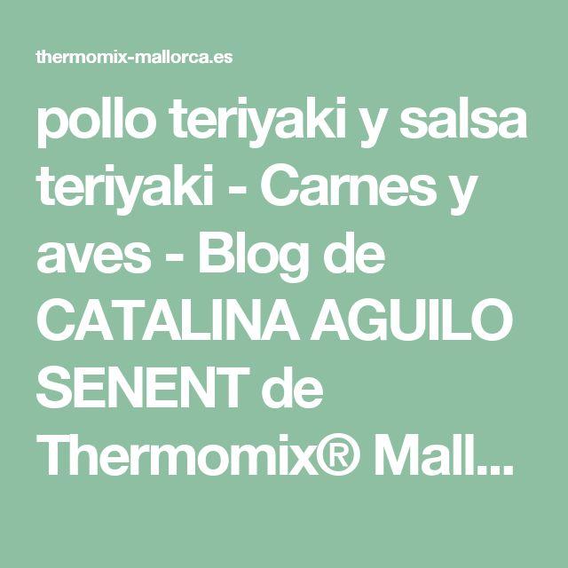 pollo teriyaki y salsa teriyaki - Carnes y aves - Blog de CATALINA AGUILO SENENT de Thermomix® Mallorca