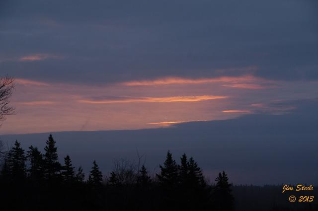 Another damp and foggy morning in Cape Breton. Thank you, Jim Steele, for capturing this shot at 5:53 AM.