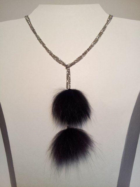 Collier ajustable chaîne et renard noir et par DeciBellesCreations