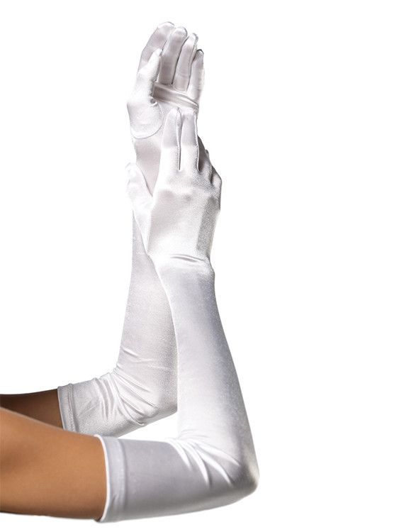 These Leg Avenue white satin gloves pair perfectly with many of the Bambino Amore apron line-up - adding a special finishing touch to aprons like; the Rapunzel, the Belle (shown in the second image +