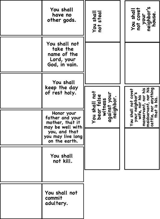 template for 10 commandments iphone sunday school ideas