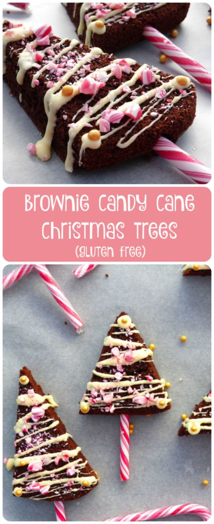 "These Gluten Free Brownie Christmas Trees are made from a simple brownie recipe and cut into triangles to make ""trees"". The perfect craft for your kids to make this festive season!"