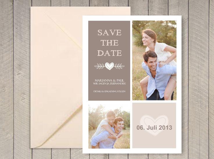 Einladungskarten - Save the Date Magnet oder Karte (W305) - ein Designerstück von oh-itsababy bei DaWanda
