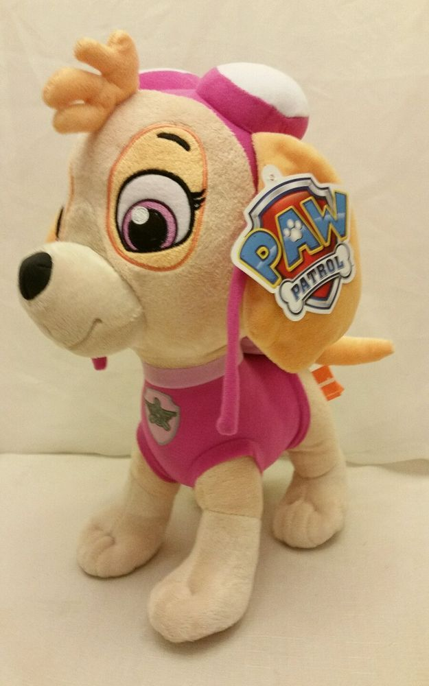 "Nickelodeon Paw Patrol Skye Cuddle Pillow 14"" Plush Toy Stuffed Animal…"