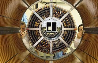 The European Organization for Nuclear Research (CERN) says it expects to restart the Large Hadron Collider (LHC) by this weekend after more than a year of repairs. The 27 km (17 mi) particle accelerator was launched last year, but suffered a failure from a faulty electrical connection, damaging 53 of the smasher's 9,300 superconducting magnets. Repairs are now completed, and the plan is to begin injecting protons into the LHC this weekend, on the path to search for particles such as predi...