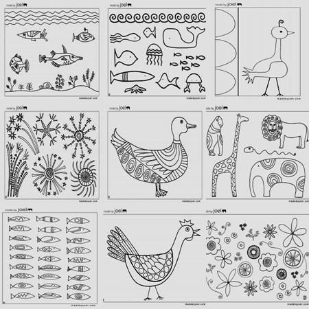 FREE embroidery patterns, YAY!Animal Doodles, Animal Embroidery, Embroidery Patterns, Stitches A Long, Crafty, Embroidery Design, Art, June Stitches, Crafts