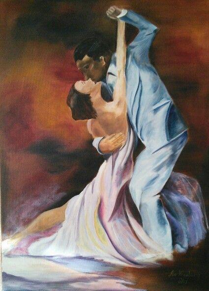 Tango passion 2 / by An Vreeburg Oil / Canvas 50 X 70 cm