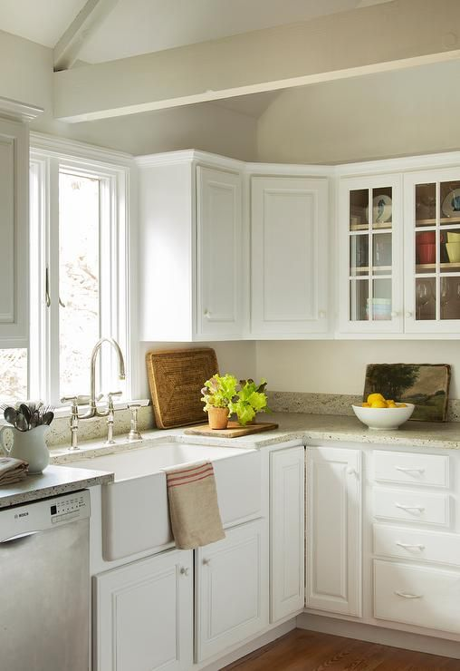 Fresh white raised panel kitchen cabinets design ideas gray butler pantry with grey granite countertops