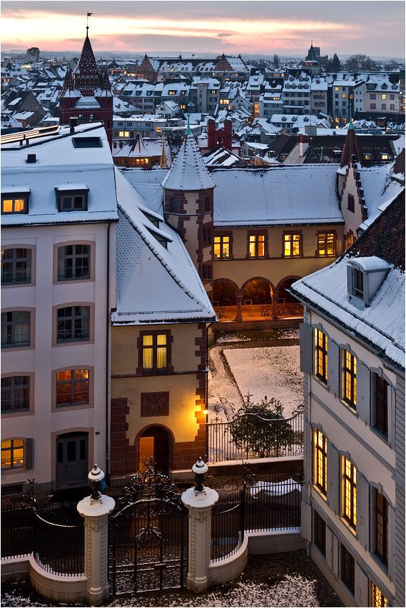 Old Town in Winter, Basel, Switzerland