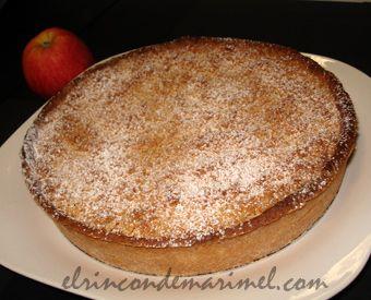 tarta crumble de manzana y pasas