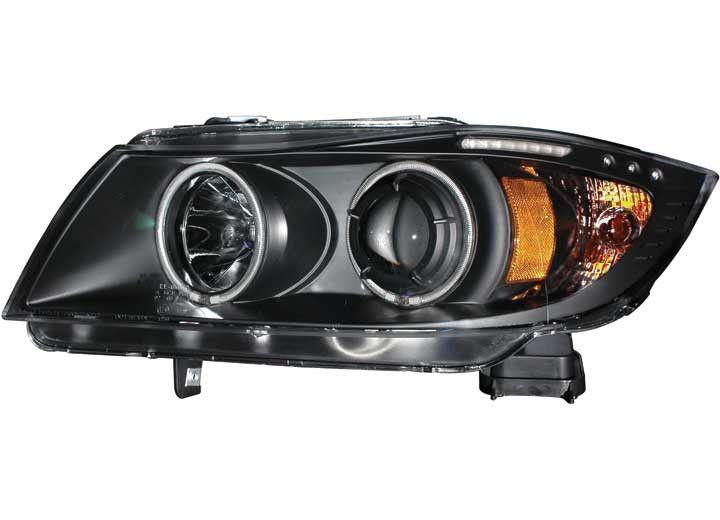 ANZO HeadLight (ANZ121335) 06-08 BMW 3 SERIES E90-E91 PROJECTOR HALO W/LED BAR BLACK CLEAR W/AMBER (CCFL)