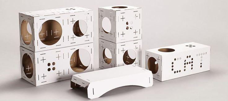 Бельгийское дизайнерское агентство PurrFect Design предлагает развлекательный комплект изгофрокартона длякошек Poopy Cat.  Одна упаковка Poopy Cat состоит издвух балок (50х25х25 см), двух кубиков (25х25х25 см), тоннеля, моста, горки идвух видов разъемов. Диаметр отверстий вдеталях 18 см. Все детали изготовлены из100% биоразлагаемого гофрокартона.  Все детали комплекта легко собираются исоединяются между собой так каквам заблагорассудится.  http://am.antech.ru/zp0L