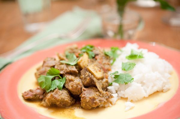 Jamie Oliver's Lamb Curry made with leftover lamb - perfect dinner for a rainy, cold day.