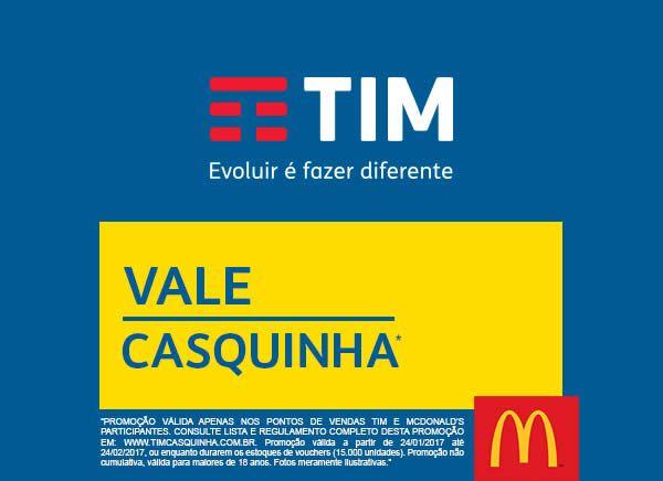 Na compra de um TIM Chip ativado com recarga de no mínimo R$15,00 (quinze reais) em um dos pontos de venda TIM participantes, você ganha um Voucher para aq