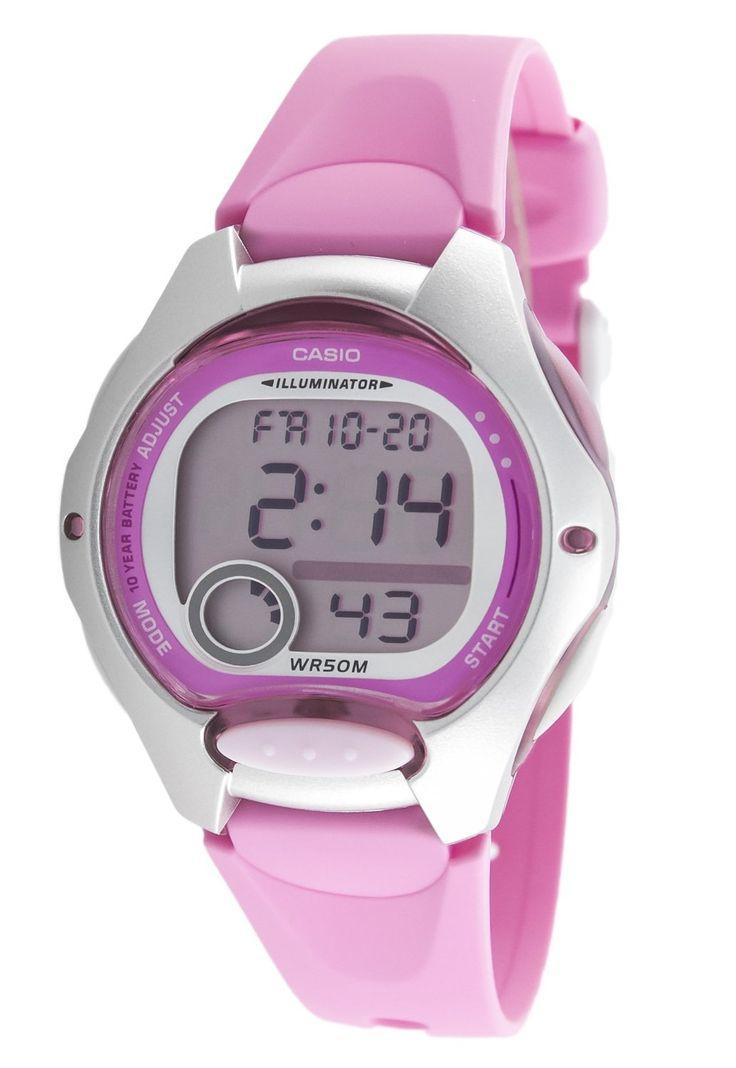 Casio LW-200-4BVEF Women's / Junior Digital Quartz Multifunction Watch with Pink Plastic Strap