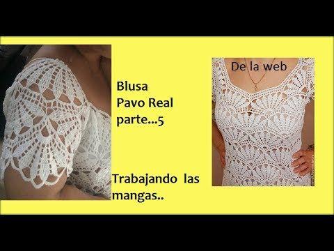 Blusa Pavo Real (parte 1) - YouTube