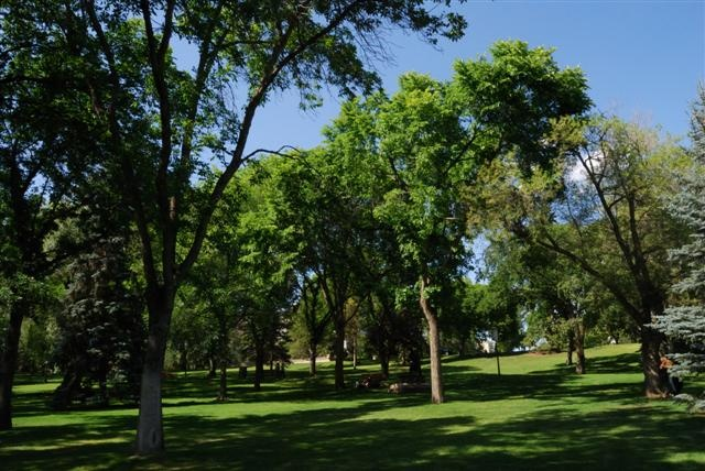 There are many beautiful parks in Edmonton, Alberta