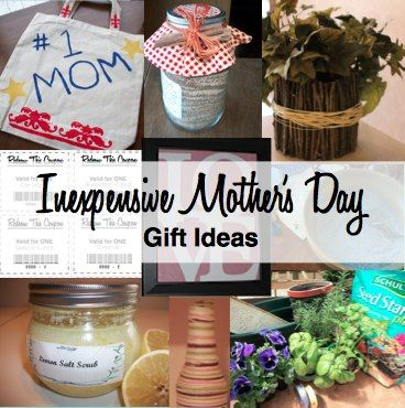 Mother's Day Gift Ideas that are inexpensive but far from cheap!
