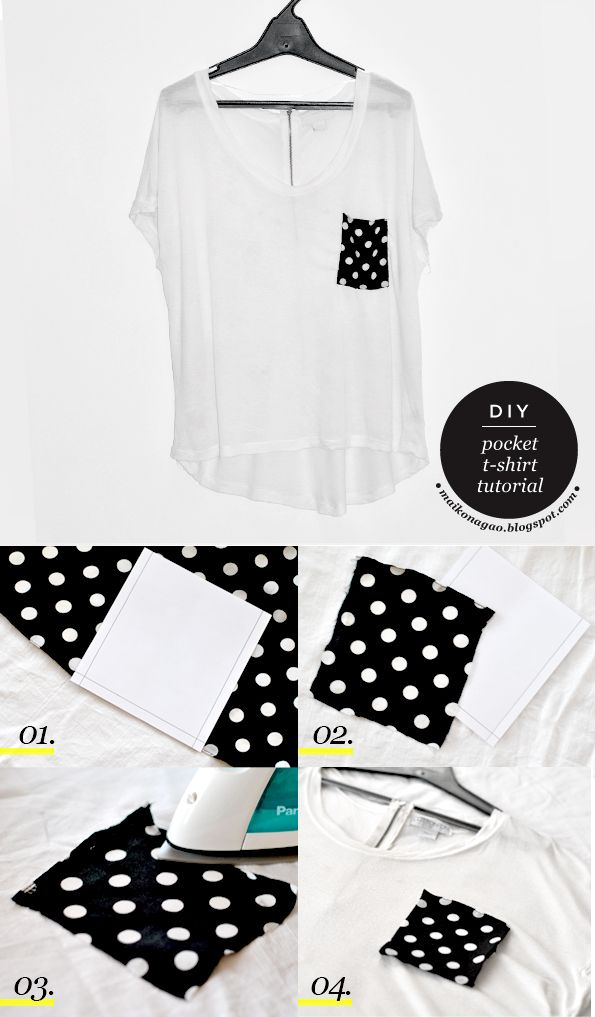 Maiko Nagao - diy, craft, fashion + design blog: DIY: Pocket T-shirt tutorial plus free pattern