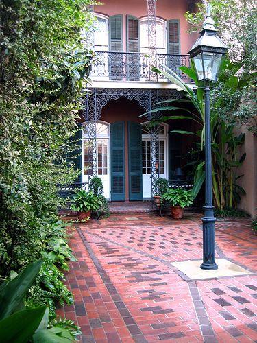 A French Quarter courtyard
