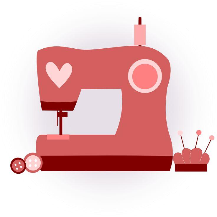 inkscape, clip art, rosa, corazón, diseño, máquina coser, costura, dibujo
