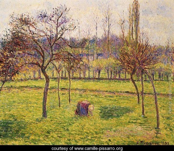Apple Trees in a Field - Camille Pissarro - www.camille-pissarro.org