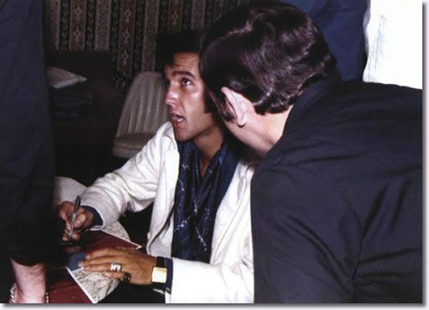 Elvis Presley : Las Vegas : August 12, 1969.taken in Elvis' dressing room on August 12, 1969 between the Dinner and Midnight Show