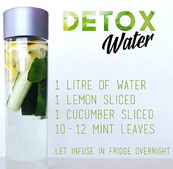 Detox water - I'll be honest, the flat belly is what appeals to me mostly. Drink every morning.