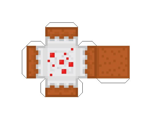 Minecraft Cow Cake