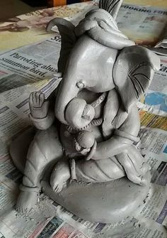 How to Make Ganesh Idol at Home 23