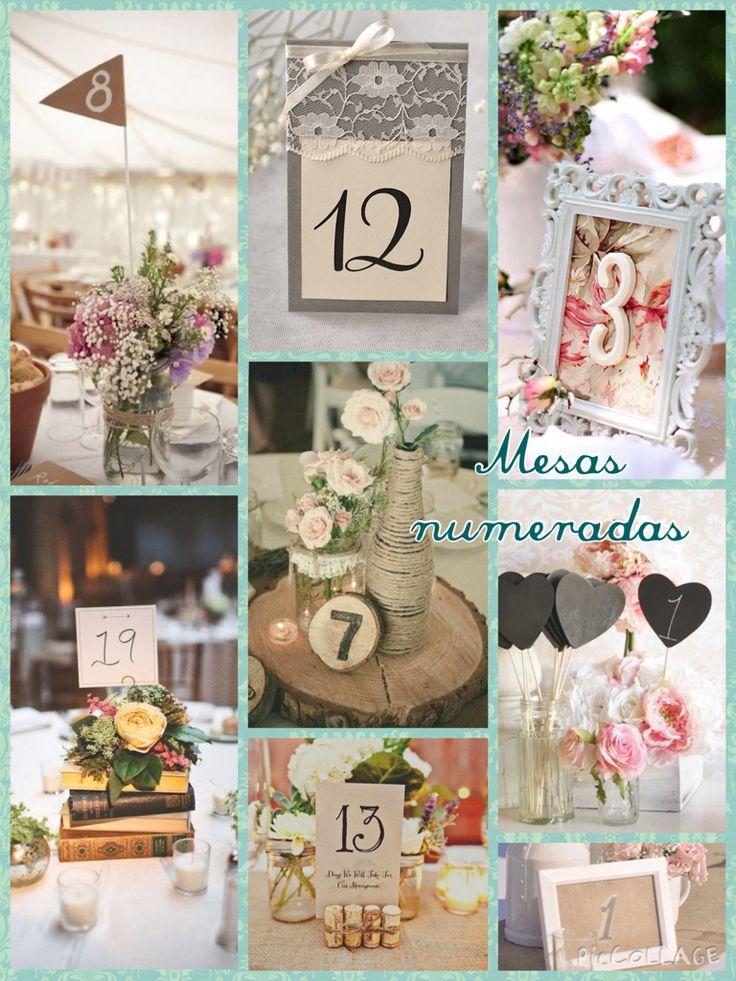 Números para las mesas Latiendadecoideas@gmail.com