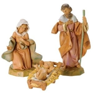Great idea for grandchild BD/Xmas gifts - start them on a Fontanini nativity when they're born and add a piece each year