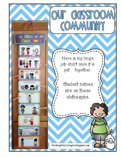 Kindergarten Crayons - Great way to display class jobs