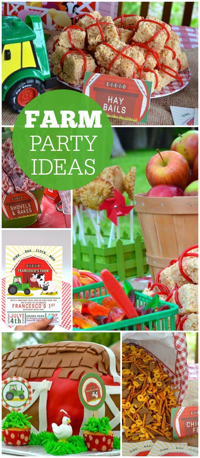 This barnyard bash is the perfect theme for a first birthday! See more party ideas at CatchMyParty.com!