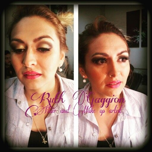 Make up dark and gold #makeuplove