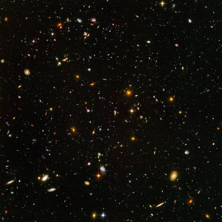 The Hubble Ultra Deep Field is a snapshot of about 10,000 galaxies in a tiny patch of sky, taken by NASA's Hubble