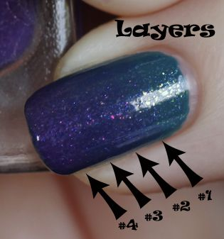 gradation / gradient / fade manicure nail art design by layering jelly polish over opaque - how to / tutorial at link