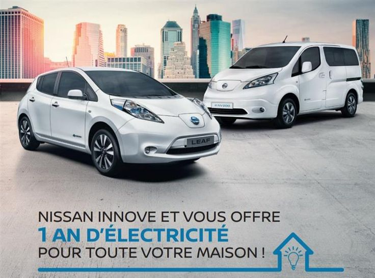 "Nissan LEAF : un an d'électricité ""verte"" offert !"