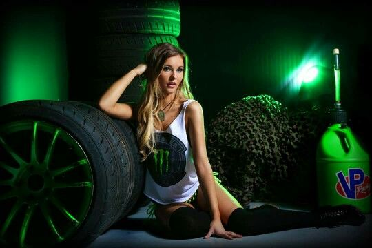 monster energy girls bare body