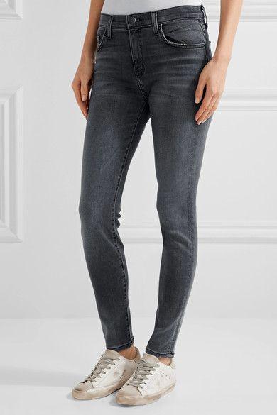 Current/Elliott - The High Waist Ankle Skinny Jeans - Gray - 32