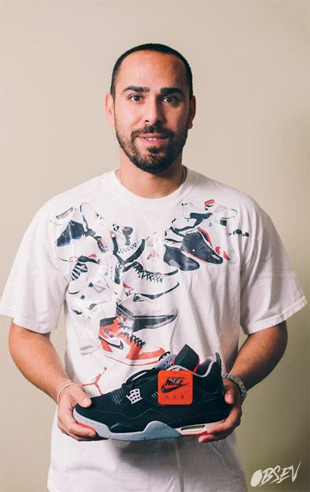 Nick Hovsepian, a serious Jordan collector and longtime sneaker head whose collection boasts 79 pairs of Jordans.