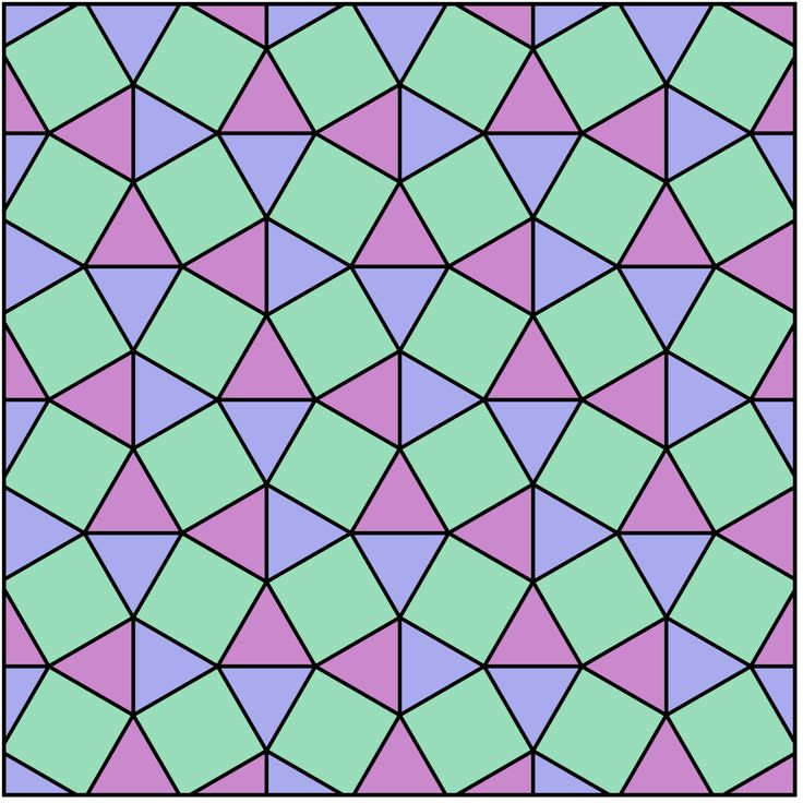 Snub quadrille - tiling with squares and triangles